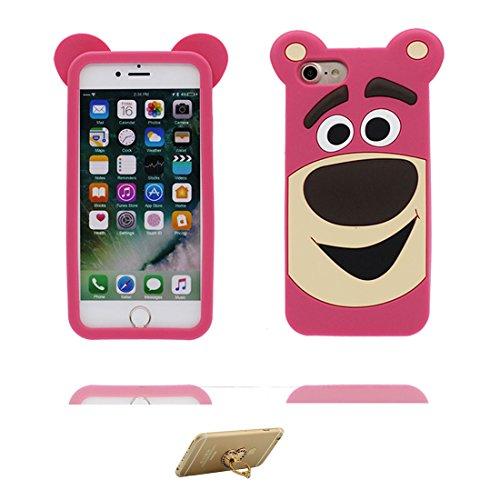 iPhone 7 Plus Custodia, TPU [ Animale ] Cover Shell Semplice Progettato per iPhone 7 Plus Copertura (5.5 pollici), iPhone 7 Plus Case - e ring supporto [Dinosauro ] # 2