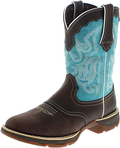 FB Fashion Boots Durango Boots Lady Rebel DRD0176 Brown Turquoise/Damen Westernreitstiefel Braun/Westernstiefel/Damenstiefel Brown Turquoise