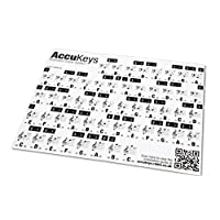 AccuKeys Keyboard & Piano Note Guide Stickers