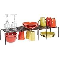 mDesign étagère de cuisine (lot de 3) – égouttoir pratique en métal pour plus d'espace de rangement – étagère cuisine…