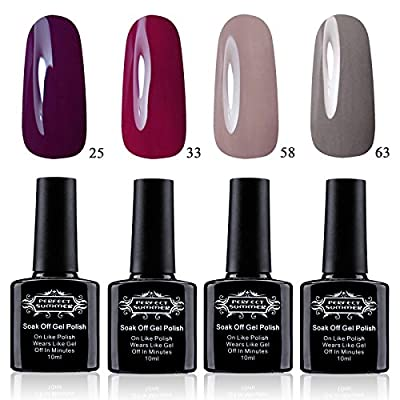 Perfect Summer Gel Nail Polish 4PCS Multi-Colours Nail Gel Kits Soak Off Varnish UV LED Manicure 10ML #001