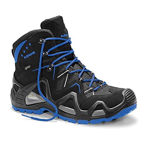 Lowa hohe Schuhe Gore-Tex® ohne Kappe, Farbe:schwarz/blau, Schuhgröße:43 (UK 8.5)