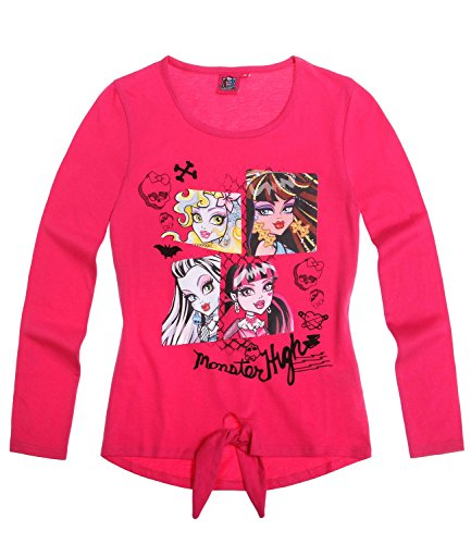 Monster High Mädchen Langarmshirt - pink - 152