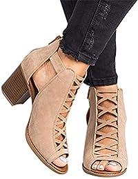 Sandalias para Mujer, Zapatos de Tacón Medio Mujer, Playa Zapatos de Verano, Zapatos