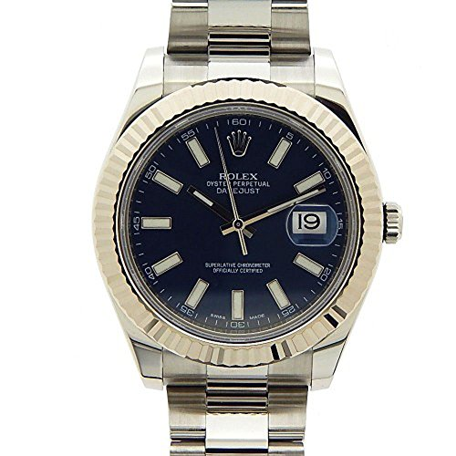 ROLEX DATEJUST II MEN'S STAINLESS STEEL CASE AUTOMATIC DATE UHR 116334BLSO