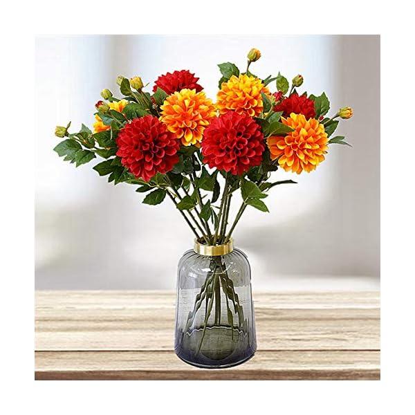Cossll498 – Planta Artificial de Dalia para el hogar, jardín, Escenario, Boda, Fiesta, decoración de Bricolaje, Color…