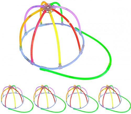 5 Leucht- Kappen 'Base Caps' KNALLBUNT Testnote: 1,4 'SEHR GUT' Komplett-Set