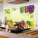 wandaufkleber wandtattoos Ronamick Früchte Küche Oilproof entfernbare Wand-Aufkleber-Kunst-Dekor-Ausgangsabziehbild (A)