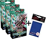Unbekannt Yugioh - Order of The Spellcasters - 3 Structure Decks + 60 Ultra Pro Hüllen - Deutsch
