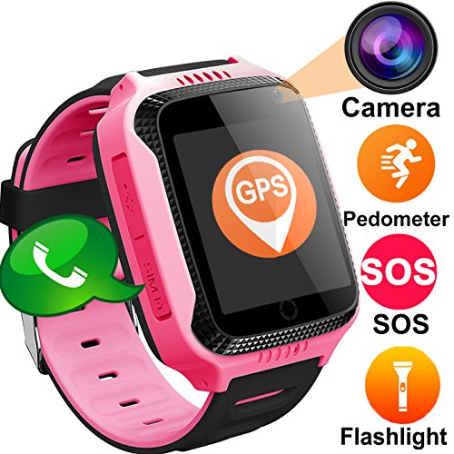 Niños Inteligente Relojes,GPS Tracker para Niños con cámara de Podómetro con Pantalla...