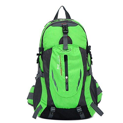 LQABW Außen Mountaineering Große Kapazitäts-Spielraum-Schulter Männer Sport Weiblich Wasserdichte Wandernde Rucksack Tasche Green