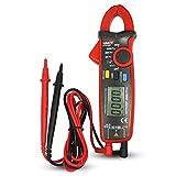 UNI-T UT210E Digitale Strommesszange Amperemeter Voltmeter Vollautomatisch AC DC Multimeter Zange zum Messen von Wechselstrom, GleichStrom, AC / DC Spannung, Widerstand, Ohm