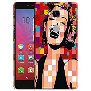 Theskinmantra Laughing Lady back cover for Huawei Honor 5X