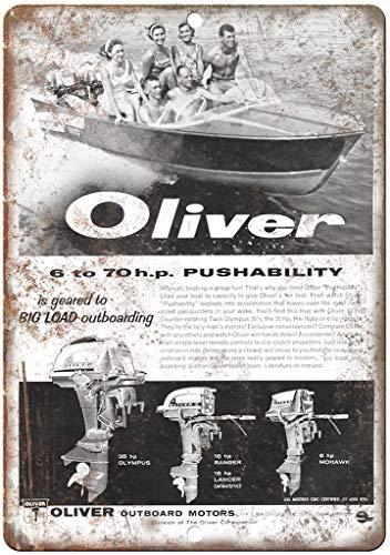 Forry Oliver Outboard Motor Boat Metall Poster Retro Blechschilder Vintage Schild Zum Cafe Bar Garage Wohnzimmer Schlafzimmer Haus Restaurant Hotel