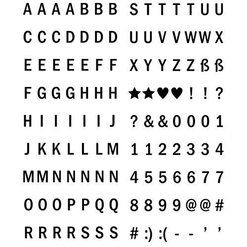 kwmobile cinema light box formato A5 - insegna luminosa con 126 lettere simboli numeri in nero - luci LED decorative - lampada cinematic lightbox - 4