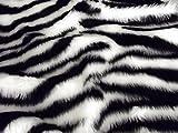 CRS Fur Fabrics Animal Fun Kunstfell Stoff Material–Zebra
