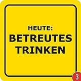 3er-Pack: Bierdeckel 15 Stück +++ LUSTIG von modern times +++ HEUTE BETREUTES TRINKEN - VERBOTENE BIERDECKEL +++ ARTCONCEPT GMBH