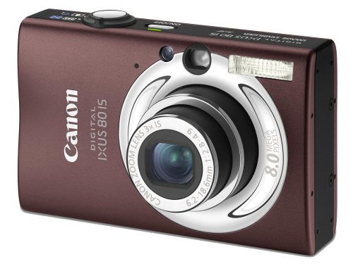 "Canon Digital IXUS 80 IS Digitalkamera (8 Megapixel, 3-fach opt. Zoom, 2,5"" Display, Bildstabilisator) braun"