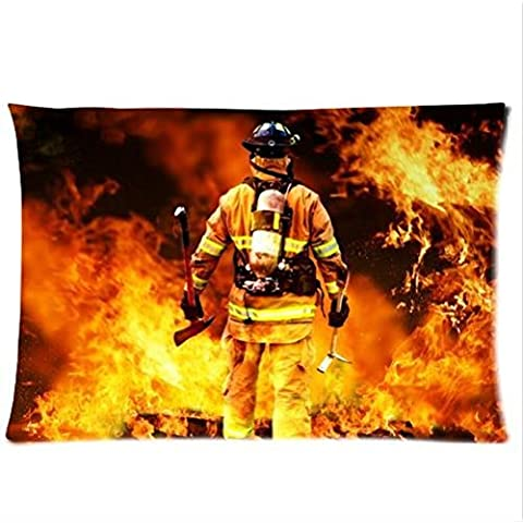 Best Seller Curtain-Firemen And Fire Design Fire Department Pillowcase,One Side Pillowcase Pillow Cover 20x30 inches
