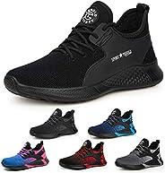 AONETIGER Chaussure de Securité Homme Femmes Légères S3 Embout Acier Basket Securite Chaussures de Sécurité Tr