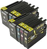 The Ink Squid 2 Sets von Hp950Xl und Hp951Xl dreifarbig und schwarz - hohe Kapazität - Tintenpatrone kompatibel mit Hp vonficejet Pro 8100 8600 8600 Plus und 8600 Premium