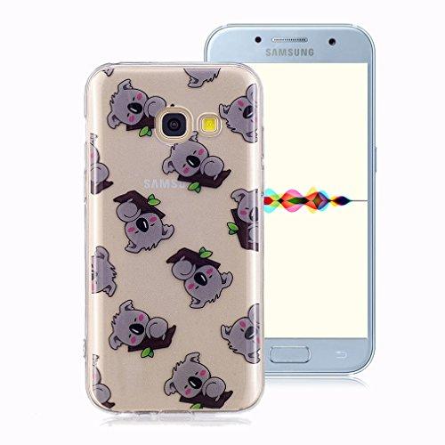 2ca8027a741 Funda Suave para Samsung Galaxy A5 2017, Ronger Carcasa Transparente Gel  TPU Silicona Transparent Case