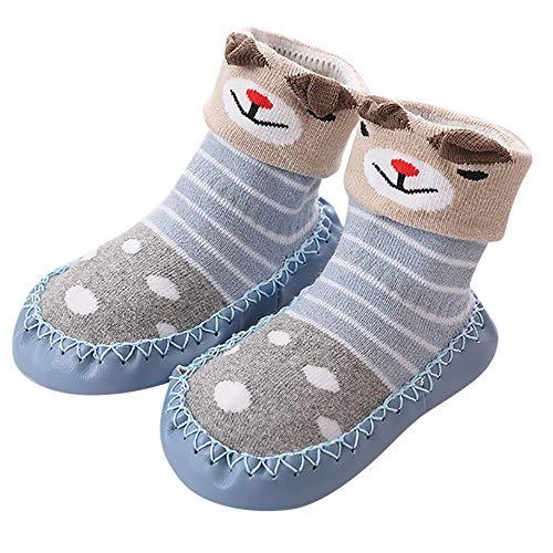 DAY8 Chaussettes Bébé Chaussette Antidérapante Bébé Fille Hiver Garçon Naissance Automne Mignon Bottes Chaussures Premiers Pas 1 Paire Sock Pantoufle Chaussettes de sol pour Bébé 0-24 Mois