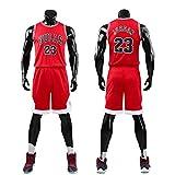 571df6defb53d Daoseng Chico Niño NBA Michael Jordan   23 Chicago Bulls Retro Pantalones  Cortos de Baloncesto Camisetas de Verano Uniformes y Tops de Baloncesto  Uniformes ...