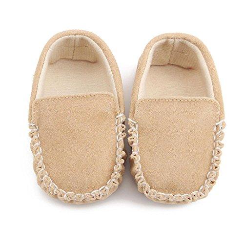 Clode® Bébés filles Double velours doux semelle chaussure souple chaussures Flats (0 ~ 6 Mois, kaki) kaki