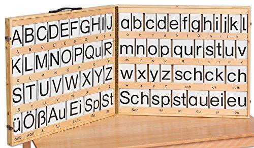 Betzold Magnetischer Buchstabensatz - Lesen Lernen Sprachförderung Deutsch-Unterricht Schule DAZ Kinder Schüler Erwachsene Lehrmittel Deutschkenntnisse Übungen Lernspiele Lesespiele