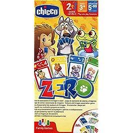 Chicco Gioco da Tavolo Zero, Gioco di Carte per Bambini e per Tutta la Famiglia, da 3 Anni in Su