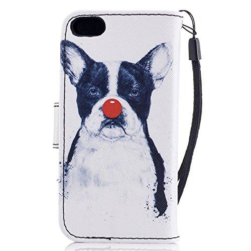 EUWLY Case Cover per iPhone 6/6s (4.7),Ultra Slim Sottile Custodia Protettiva Portafoglio pelle PU Case Lusso Flip Stand Slot Funzione di Supporto Leather Wallet Case per iPhone 6/6s (4.7)-Occhiali  Cucciolo Brutto