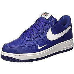 Nike Air Force 1, Zapatillas de Gimnasia para Hombre, Azul (Deep Royal Blue/White/White), 42 EU
