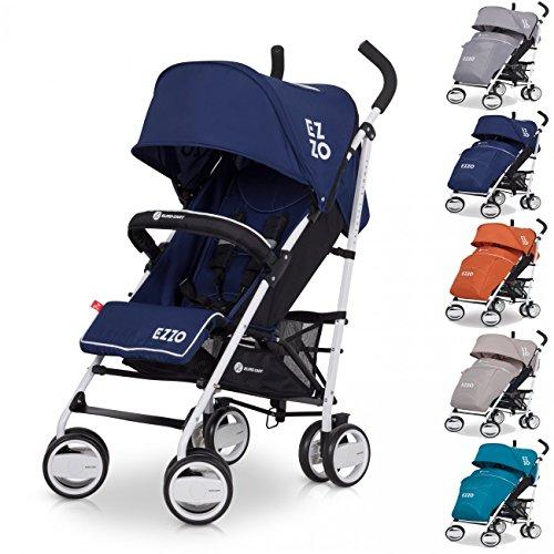 Buggy Sport Kinderwagen EZZO Denim mit Liegefunktion zusammenklappbar - Baby ab 6. Monate