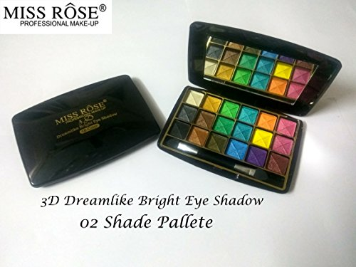 Miss Rose Women's Bright Eye Shadow Mini 3D 18 Colour Makeup Kit, (7001-402M-02)