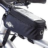 BTR Fahrrad-Rahmentasche / lenkertasche und Handy-Tasche GEN3. Fahrradrahmentasche wasserdicht mit Option für einen wasserdichten Regenschutz, um ALL Ihre Wertsachen vor Nässe zu schützen – passend für ALLE Fahrräder