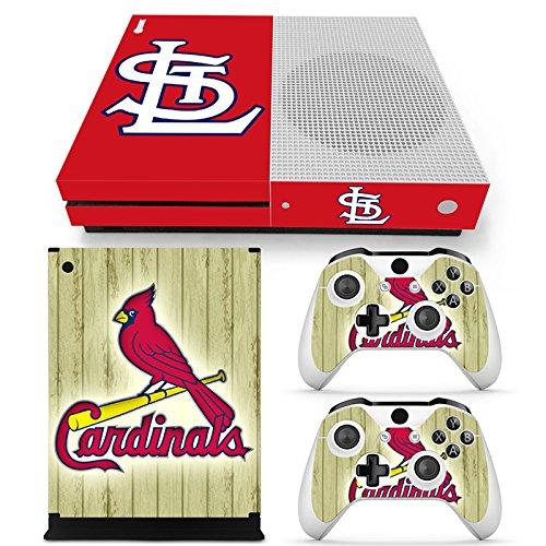 GoldenDeal Skin für Xbox One S Konsole und Wireless Controller, Vinyl, MLB - XboxOne S XOS (St Louis Cardinals-aufkleber)