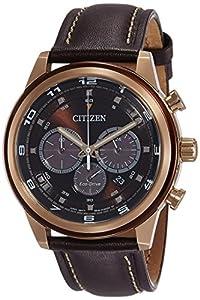 Citizen Reloj Cronógrafo para Hombre de Cuarzo con Correa en Cuero CA4037-01W de Citizen