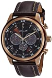 Citizen Herren-Armbanduhr XL Analog Quarz Leder CA4037-01W