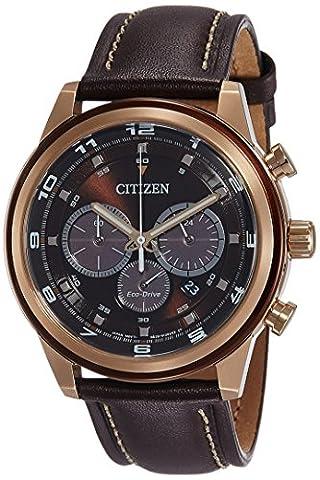 Citizen Herren-Armbanduhr XL Analog Quarz Leder CA4037-01W