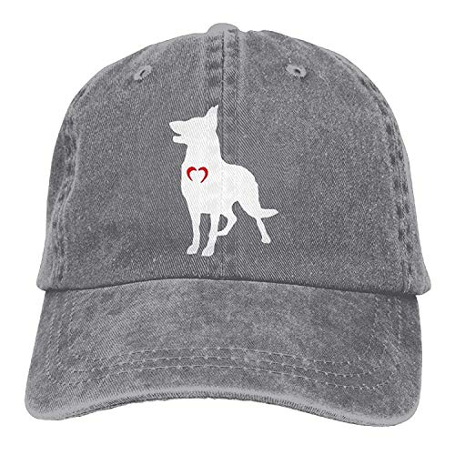 Gorgeous ornaments Baseball Cap German Shepherd with Heart-1 Women Snapback Casquettes Polo Style Low Profile -