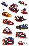 12 tlg. Set: Haut Tattoo -' Disney Cars - Lightning McQueen' - Jungen für Kinder - Tattoos Hauttattoo - Auto Car Finn Luigi Hook Mater Francesco - Fahrzeuge - Aufkleber Sticker - Erwachsene - Kindertattoos