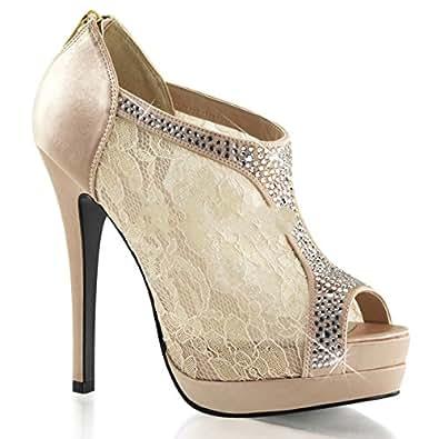 Bordello Bella-26 - sexy chaussures femmes talon hauts plateau peeptoe escarpins - taille 35-43, US-Damen:EU-43 / US-12 / UK-9