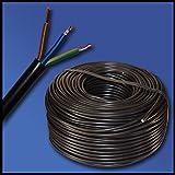 Manguera Cable H05VV-F 3G1,5mm²?3x 1,5mm²?Negro?Varios Longitudes a elegir)