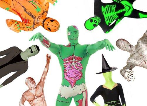 Halloween Morphsuit Glow skeleton-x-large (Skinz Kostüm)
