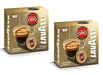 Lavazza A Modo Mio Oro Coffee Capsules (2 Packs of 12)