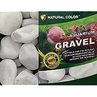 Color natural: piedras de grava, 3 – 5 cm, color blanco