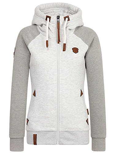 Naketano Female Zipped Jacket Mach klar jetzt stone grey gun smoke grey