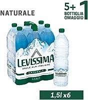 Levissima Acqua Minerale Naturale Oligominerale - 1.5 L x 5+1 Bottiglia Omaggio