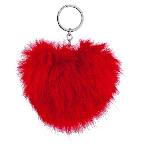 lux-accessoires-rouge-pom-pom-porte-cles-sac-charm